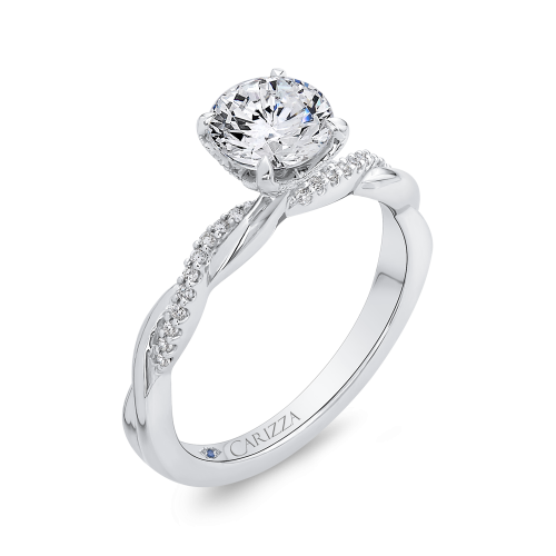 Carizza Diamond Engagement Ring with White Gold