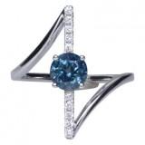 Montana Sapphire and Diamond Ring