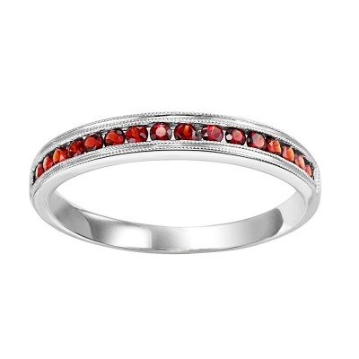 10K Garnet Mixable Ring