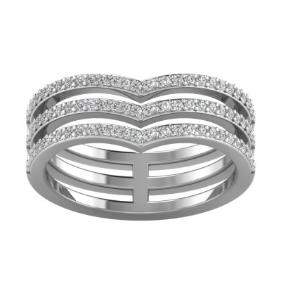 Triple Chevron Tiara Ring