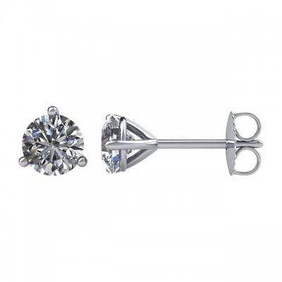 Martini Diamond Studs 1/2 ctw