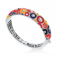 Nova Collection In Sterling Silver Summer Org/Yel/Blue/Red/Cz Bangle
