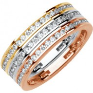 Platinum 3/8 CTW Diamond Stackable Ring