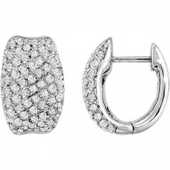 PavC) Hinged Earrings