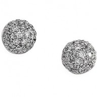 14K White 1/2 CTW Diamond Earrings