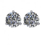 14kt White 1/5 CTW Diamond Stud Earrings