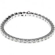 "18kt White 9 CTW Diamond Line 7.25"" Bracelet"