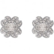 Diamond Fancy Design Earrings
