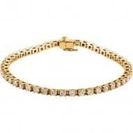 "14K Yellow 4 1/2 CTW Diamond Line 7.25"" Bracelet"