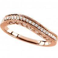 14K Rose 1/4 CTW Diamond Stackable Ring