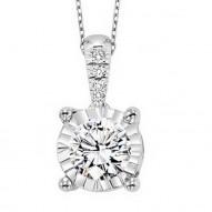 14KW Diamond Pendant 1/10 ctw