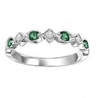 10KW Emerald & Diamond Mixable Rings
