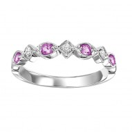 10K Pink Sapphire & Diamond Mixable Ring