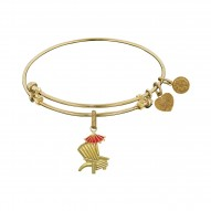 Brass with Yellow Finish Enamel Beach Chair Charm For Angelica Bangle