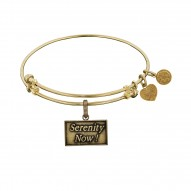 Brass Yellow Seinfeld Serenity Now! Charm for Angelica Bangle