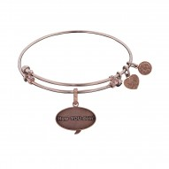 Brass with Pink Finish Friends How You Doin Angelica Bangle