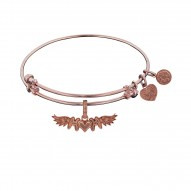 Brass with Pink Finish M-Heart-M with Wing Charm For Angelica Bangle