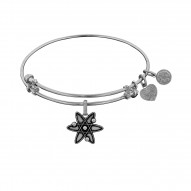 Brass with White ATOM Charm for Angelica Bangle