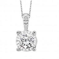 14KW Diamond Pendant 1/3 ctw
