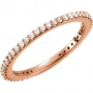 14K Rose 1/3 CTW Diamond Stackable Ring Size 7