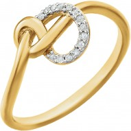 14K Yellow .05 CTW Diamond Knot Ring