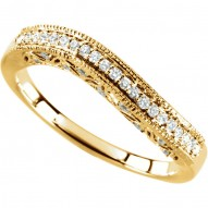 14K Yellow 1/4 CTW Diamond Stackable Ring