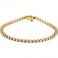 14K Yellow 2 1/8 CTW Diamond Line Bracelet