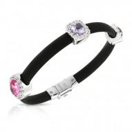 Diana Black/Pink Bracelet