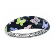 Papillon Black Bangle