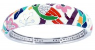 Perroquet White Bangle