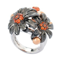 Posy Black Ring