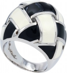Cestina Black/White Ring