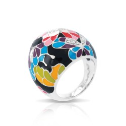 Butterfly Kisses Black Ring