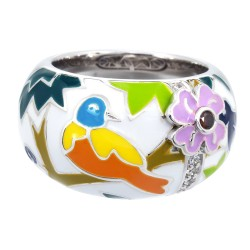 Songbird White Ring