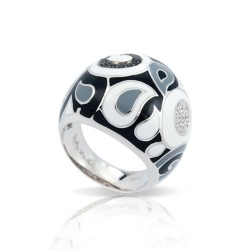 Paisley Black/White Ring