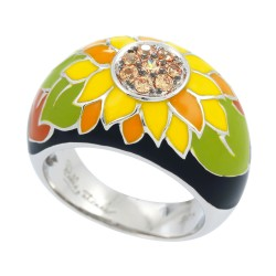 Sunflower Black Ring