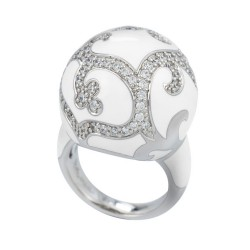 Royale Ball White Ring