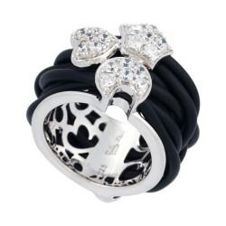 Intrecci White Ring