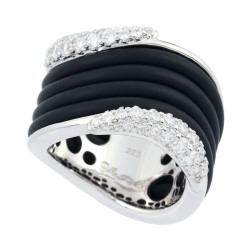 Wave Black Ring