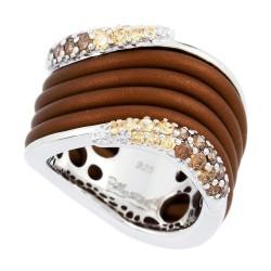 Wave Brown Ring