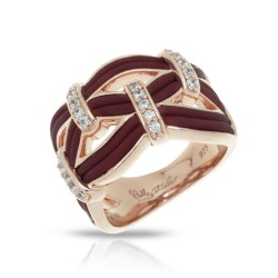 Riviera Collection In Brnrosegold_Sterling Silver Brn/Ru/White /Cz Ring