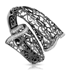 Antoinette Collection In Sterling Silver Cz.White Bangle