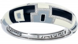 Art_Deco Black/Cream Bangle