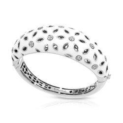 Charlotte Collection In Sterling Silver White En/Cz.White Bangle