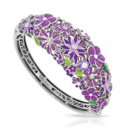 Jardin Collection In Sterling Silver Purple/En/ White/Cz Bangle