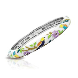 Songbird Collection In Sterling Silver En_White Mult/Cz_White Bangle