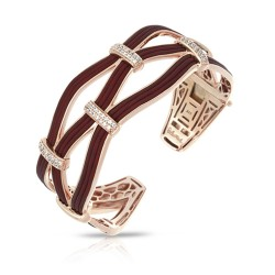 Riviera Collection In Brnrosegold_Sterling Silver Brn/Ru/White /Cz Bangle