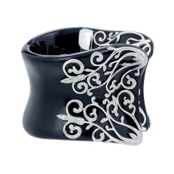 Anastacia Black Bangle