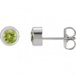 Sterling Silver Imitation Peridot Earrings