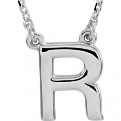 "14kt Yellow Letter ""A"" Block Initial 16"" Necklace"